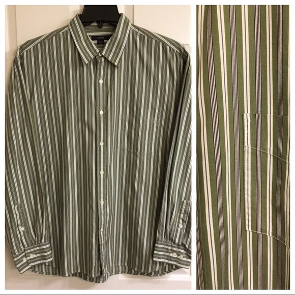 46387f67d2 J. Crew Shirts | J Crew Mens Long Sleeve Button Down Striped Shirt ...